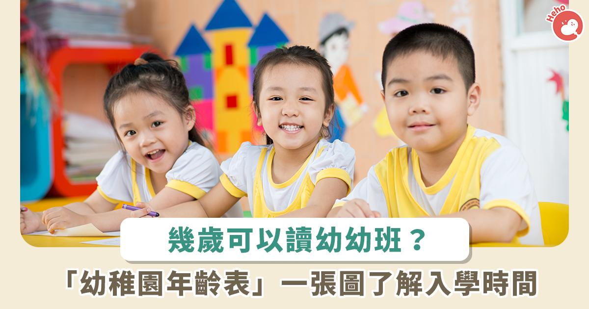 還在煩惱小孩到底何時入學? 幼稚園年齡表一張圖超清楚