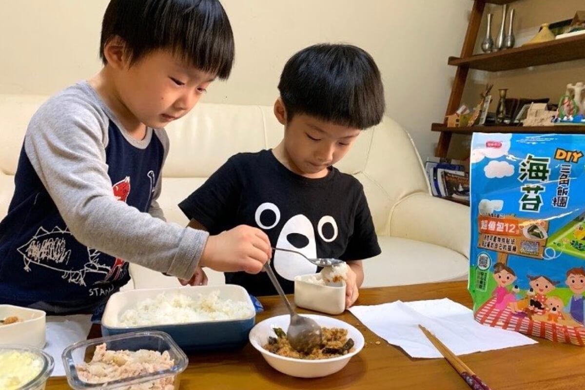 居家防疫育兒神隊友!元本山DIY三角飯糰海苔讓孩子製作屬於自己的飯糰